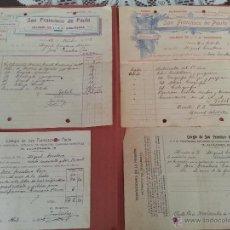 Facturas antiguas: ANTIGUO COLEGIO DE 1ª Y 2ª ENSEÑANZA SAN FRANCISCO DE PAULA DE SEVILLA, 1920 A 1922. Lote 42719342
