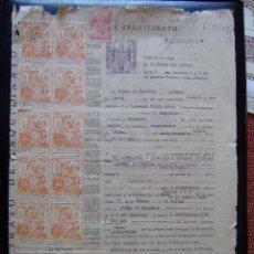 Facturas antiguas: LOTE DE 2 FACTURAS DE 1951 CON 16 SELLOS FISCALES - VER FOTO ADICIONAL. Lote 45452986