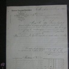 Facturas antiguas: FACTURA TORCIDOS Y TEJIDOS DE SEDA DE HIJOS DE FAUSTINO MARTINEZ - AÑO 1896 - (FAC-58). Lote 45689115