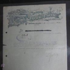 Facturas antiguas: FACTURA HACIENDA JOSE PUIG COLONIA AGRICOLA - AÑO 1930 - (FAC-70). Lote 45689753