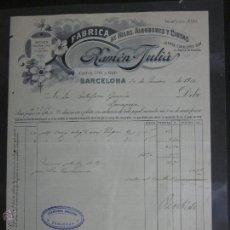 Facturas antiguas: FACTURA HILOS, ALGODONES Y CINTAS RAMON JULIA - AÑO 1912 - (FAC-71). Lote 45689781