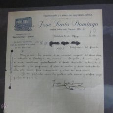 Facturas antiguas: FACTURA VINO JOSE ANTONIO DOMINGO - AÑO 1920 - (FAC-121). Lote 45691816