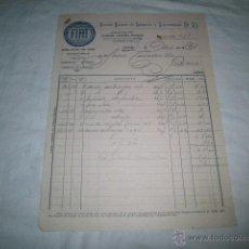 Facturas antiguas: ANTIGUA FACTURA FIAT SOCIEDAD EPAÑOLA DE AUTOMOVILES Y REPRESENTACIONES GARAJE ESPAÑA OVIEDO 1933. Lote 46498534