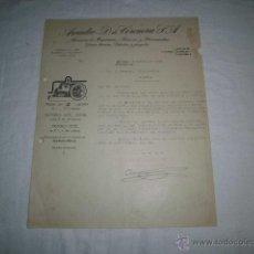 Facturas antiguas: ANTIGUA FACTURA ARCADIO D.DE CORCUERA S.A. ALMACEN DE MAQUINARIA BILBAO 1925. Lote 46500947