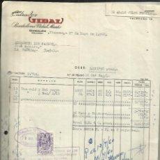 Facturas antiguas: FACTURA DE BARTOLOMÉ VIDAL MARTI. CALZADOS VIDAL. BINISALEM. MALLORCA. 1960. Lote 46892309