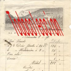 Facturas antiguas: LA PUDA DE MONTSERRAT. BARCELONA ANTIGUA FACTURA AÑO 1870.. Lote 47637964