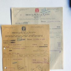 Fatture antiche: 2 FACTURAS / DELCLAUX Y CIA. AÑO 1942 / METALES Y VIDRIOS / BILBAO / . Lote 47921073