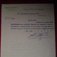 Facturas antiguas: ANTIGUA FACTURA VIUDA DE V.JUNCO CANGAS DE ONIS 1911. Lote 47956220