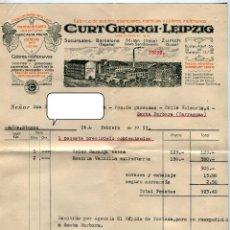 Fatture antiche: SIFON - GASEOSA- CURT GREGORI LEIPZIG FACATURA + SOBRE CON FRANQUEO AÑO 1953. Lote 48109981