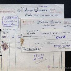Facturas antiguas: FACTURA Y RECIBI / MODERNA CERAMICA / BINEFAR 1952 / HUESCA. Lote 48405074