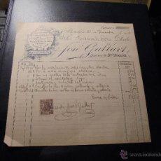 Facturas antiguas: BARCELONA 1901 - FACTURA INSTALACIONES COMPLETAS AGUA-GAS JOSÉ GALLART - C. REGOMIR Nº 6 . Lote 48531171