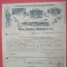 Facturas antiguas: VALLE,BALLINA Y FERNANDEZ S.A.-EL GAITERO.-SIDRA.-VILLAVICIOSA.-FACTURA MUY BONITA.-AÑO 1954.. Lote 48704441