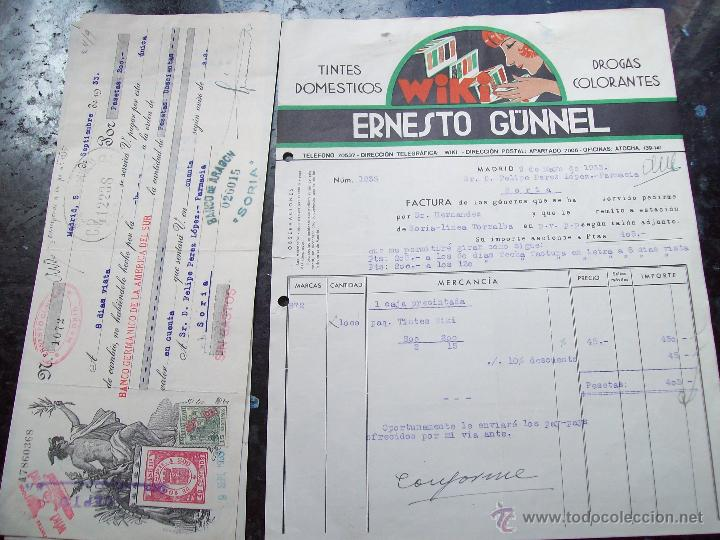 factura y letra de cambio de ernesto gunnel. ti - Comprar Facturas ...