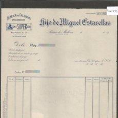 Facturas antiguas: FACTURA ANTIGUA - FABRICA DE CALZADOS MECANICOS MIGUEL ESTARELLAS - PALMA DE MALLORCA -( FAC-139) . Lote 48999697