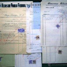 Facturas antiguas: 6 FACTURAS CON TIMBRES MÓVILES. AÑOS 1960. Lote 49051928