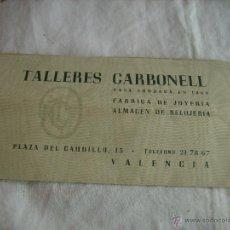 Facturas antiguas: **ANTIGUA FACTURA DE--TALLERES CARBONELL(AÑOS 70)FABRICA DE JOYERIA Y ALMACEN DE RELOJERIA (VALENCIA. Lote 49876861