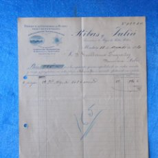 Facturas antiguas: FACTURA. RIBAS Y JULIÀ. FÁBRICA DE GÉNEROS DE PUNTO. MATARÓ, 1920. Lote 50956437