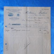 Facturas antiguas: FACTURA. RIBAS Y JULIÀ. FÁBRICA DE GÉNEROS DE PUNTO. MATARÓ, 1920. Lote 50956480