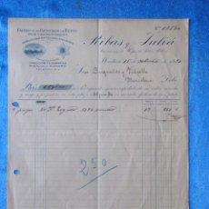 Facturas antiguas: FACTURA. RIBAS Y JULIÀ. FÁBRICA DE GÉNEROS DE PUNTO. MATARÓ, 1920. Lote 50956501