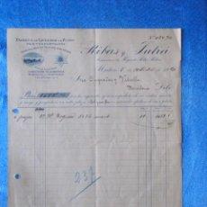 Facturas antiguas: FACTURA. RIBAS Y JULIÀ. FÁBRICA DE GÉNEROS DE PUNTO. MATARÓ, 1920. Lote 50956515