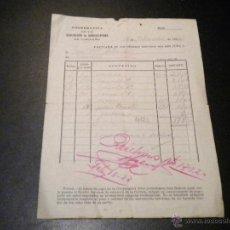 Facturas antiguas: COOPERATIVA DE LA ASOCIACION AGRICULTORES DE CARREÑO / 1932. Lote 51929264