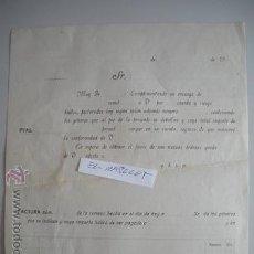 Facturas antiguas: ANTIGUA FACTURA DE LOS AÑOS 1900 -. Lote 52759271