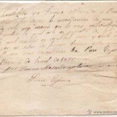 Facturas antiguas: RIERA (TARRAGONA). RECIBO DE PAGO DE 1875. Lote 53024745