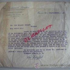 Facturas antiguas: ANTIGUA FACTURA DE ALBAÑILERIA FECHADA EN TARRASA 10 DE SEPTIEMBRE DE 1932 -. Lote 53346172