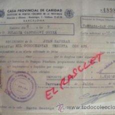 Facturas antiguas: ANTIGUA FACTURA DE SERVICIOS POMAS FUNEBRES DE LA PROVINCIA DE BCN-TARRASA-SAN CUGAT-1958-. Lote 53397268