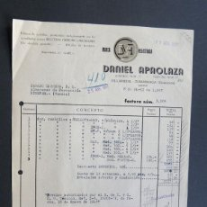 Fatture antiche: FACTURA / DANIEL APAOLAZA / FABRICA DE CUCHILLO - BELLOTA / ZUMARRAGA 1957 / GUIPUZCOA. Lote 53623167