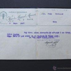Faturas antigas: FACTURA / PAÑOS Y NOVEDADES / HIJO DE MIGUEL MARCET / TARRASA - TERRASA 1916. Lote 54105656