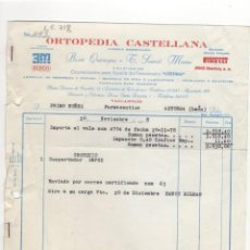 Facturas antiguas: FACTURA. ORTOPEDIA CASTELLANA. FARMACIA,LEON, 1978.. Lote 206535845