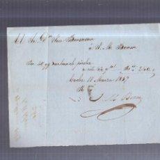 Facturas antiguas: FACTURA. J.M.BOOM. POR CARBON DE PIEDRA. CADIZ. 11 MARZO 1859. VER. Lote 56094593