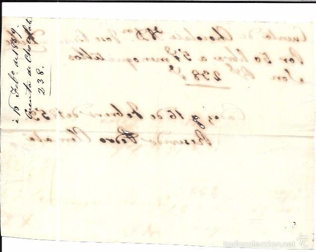 Facturas antiguas: FACTURA DE CHOCOLATE. CADIZ. FEBRERO DE 1859. - Foto 2 - 56094647