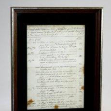 Facturas antiguas: I2-033. PRIMERA CUENTA ABONADA POR LA SOCIEDAD DE SEGUROS MUTUOS DE BARCELONA. 1833-37. Lote 56634863