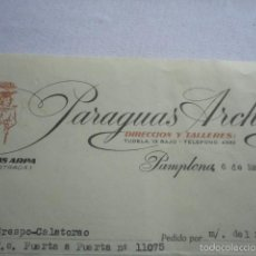 Facturas antiguas - FACTURA ANTIGUA PARAGUAS ARCHANKO PAMPLONA 1959 - 56750714
