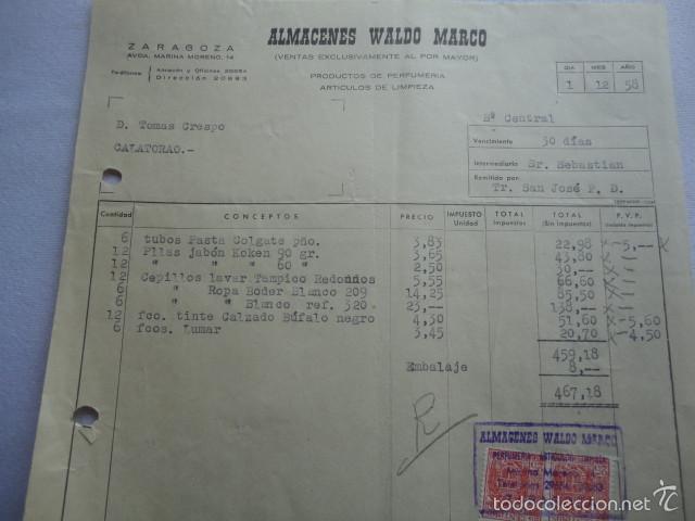 antigua factura almacenes waldo marco zaragoza - Comprar Facturas ...