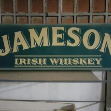 Facturas antiguas: ENORME CARTEL WHISKEY JAMESON, LUMINOSO. VINTAGE 2.30X70CM. Lote 56949179