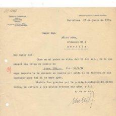 Facturas antiguas: FACTURA. ERNESTO LIEBRECHT, BARCELONA, 1931.. Lote 57084550