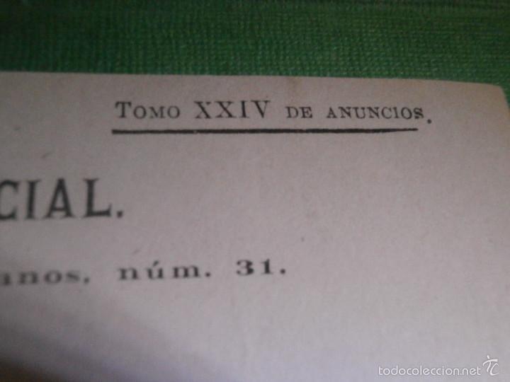 Facturas antiguas: Recibo del año 1891 del periodico - El Imparcial - por publicación de un comunicado en prensa - - Foto 4 - 57312367