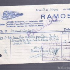 Facturas antiguas: FACTURA. RAMOS COSARIO. JEREZ DE LA FRONTERA. 1963. Lote 57340922
