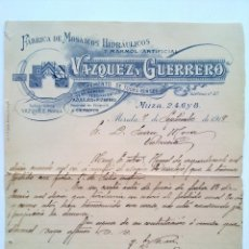 Facturas antiguas: MERIDA, BADAJOZ 1918, ANTIGUO MANUSCRITO FACTURA. Lote 57911138