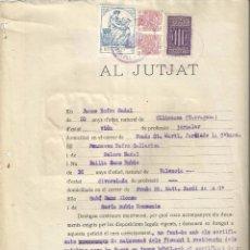 Facturas antiguas: JUTJAT POPULAR 1938 BARCELONA TRAMITE MATRIMONIAL SELLO GENERALITAT CATALUNYA 25 PTS I AJUT INFANTIL. Lote 58010443