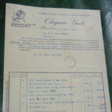 Facturas antiguas: FACTURA OLEGARIO GODO, FABRICAS DE CUTIES Y OTROS TEJIDOS, BARCELONA 1931. Lote 62434664