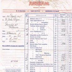 Facturas antiguas: AIRGAM - 1967 - FACTURA DE JUGUETES ANTIGUA. Lote 63345968