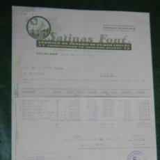 Facturas antiguas: FACTURA FAB.GENEROS PUNTO INGLES T.SALINAS FONT, IGUALADA 1930. Lote 63664559