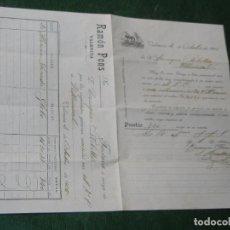 Facturas antiguas: FACTURA RAMON PONS -VALENCIA 1905. Lote 64372227