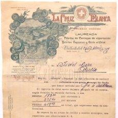Facturas antiguas: FACTURA FABRICA DE CERVEZAS CERVEZA DE SANTANDER. LA CRUZ BLANCA 1919. Lote 65662678