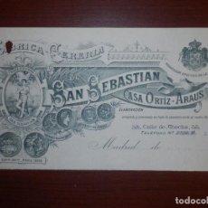 Factures anciennes: CABECERA DE FACTURA - FABRICA CERERIA SAN SEBASTIAN CASA ORTIZ-ARAU - CALLE ATOCHA 53,55 - AÑO 1932. Lote 67881921