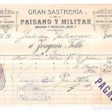 Facturas antiguas: CUÑADO Y COMPª. COSARIO. COSARIOS. JEREZ DE LA FRONTERA. 1905. Lote 70343689